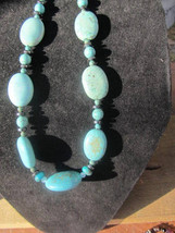 Turquoise gemstone necklace - $46.00
