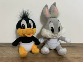 """Lot of 2 Baby Looney Toons Bugs Bunny Sylvester Plush 6"""" - $43.56"""