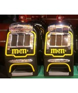 2 M&M's World Slot Machine Chocolate Candy Candies Dispenser New Tag Las... - $183.15