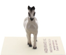 Hagen-Renaker Miniature Ceramic Horse Figurine Tiny Gray Stallion image 2