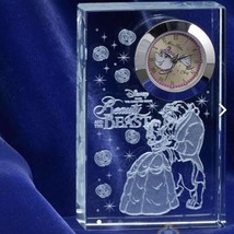 Disney Beauty and the Beast Premium Crystal Clock Glass Figure Ornament ... - $56.43