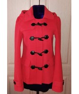 New red hooded crop fall coat - $50.00