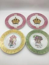 St. Martin Email de Limoges Royale Crown Porcelain Deco Salad Plates - S... - $23.46