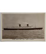 VTG Old Real Photo Postcard RPPC Cunard White Star RMS Steamer Queen Eli... - $19.55
