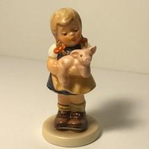 MI HUMMEL CLUB FIGURINE WEST GERMANY GOEBEL TMK-7 PIGTAILS 2052 PIG PIGL... - $64.35