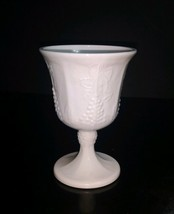 """Vintage Indiana Colony White Milk Glass Harvest Grape 5 1/4"""" Water Goblet - $3.22"""