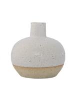 White with Tan Ceramic Vase - $35.64