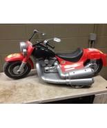 Vintage Power Wheels Red Flame Job Harley Davidson Motorcycle (g100) - $140.25