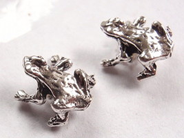 Sitting Frog Stud Earrings 925 Sterling Silver Corona Sun Jewelry - $2.48