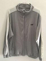 Puma Lightweight Jacket Men's SZ XL Polyester Malaysia Long sleeve Gray White - $24.70