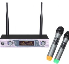 Wireless Microphone Receiver 2 Channel Transmitter System Two Handheld VHF  - $84.51