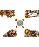 Acrylic Rhinestones Flat Back Gold Topaz Mixed 4 Sizes 380 Pcs For DIY C... - $10.40