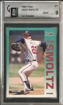 1992 Fleer #371 John Smoltz GAI 9 MINT  - $29.65