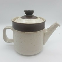 Denby Brown Stripe and Speckled Stoneware Teapot with Lid - $24.72