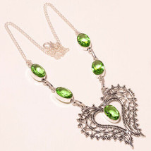 """Green Amethyst Faceted Handmade Fashion Ethnic Jewelry Necklace 18"""" UK-293 - $6.80"""