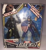 Hasbro Marvel Legends Ultimates Captain America & Nick Fury Action Figur... - $70.13