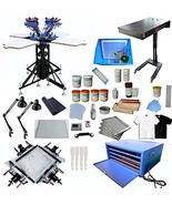 4 Color 4 Station Screen Printing Kit Screen Printing 4 Color 4 Station ... - $3,442.95