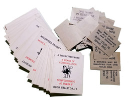 Dig Parker Brothers 1940s Board Game Replacement Pieces - Pile of Letters - $4.88