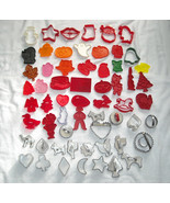 60 Cookie Cutters HRM Hallmark Metal Plastic Holiday Halloween Christmas... - $42.52