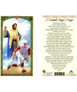 A Baseball Players Laminated Prayer Card - Item EB751 - Play Ball Great ... - $2.23