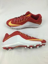 Nike Alpha Football Low Top Red White Yellow Cleats Men Sz 14 729445-616 - $38.00