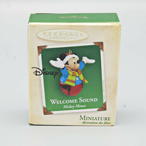 2004 Hallmark Keepsake Miniature Ornament Welcome Sound Mickey Mouse Bell - $9.99
