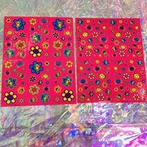 2 COMPLETE  S757 S496 Lisa Frank Smiley Face Flower Spiders Sticker Sheets image 4