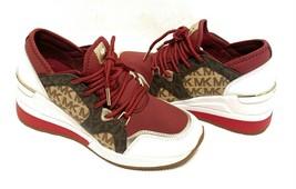 Michael Michael Kors Women's Liv Trainer Wedge Sneakers Brandy Multi Size 6 - $118.79