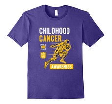 Childhood Cancer Awareness Football T Shirt Men - $17.95+