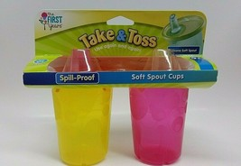 The First Years Soft Spout Sippy Cup 10 Oz Baby Cup 2pk BRAND NEW 9m+ BP... - $13.84