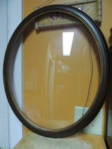 "Vintage Oval Wood Picture Frame Convex Bubble Glass 22.5""x18.5"" Walnut f... - $1.381,40 MXN"