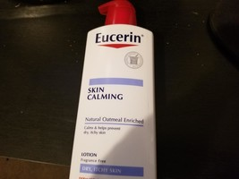 EUCERIN Skin Calming Fragrance-Free Lotion 16.9oz Natural Oatmeal Dry Itchy Skin - $11.87
