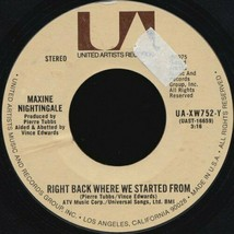 MAXINE NIGHTINGALE - RIGHT BACK WHERE WE STARTED FROM U.S. 7 INCH RECORD... - $6.95
