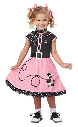 Primary image for California Costumes 50's Poodle Cutie Toddler Costume, 3-4