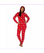 Family Pajamas Women's Zip Front Closure Hooded One Piece Pajamas - $15.17