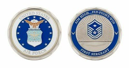 "USAF AIR FORCE FIRST 1ST SERGEANT 1.75""  CHALLENGE COIN - $18.04"