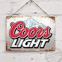 Retro Vintage   Tin Sign Coors Light Beer Pub Bar  - $12.99