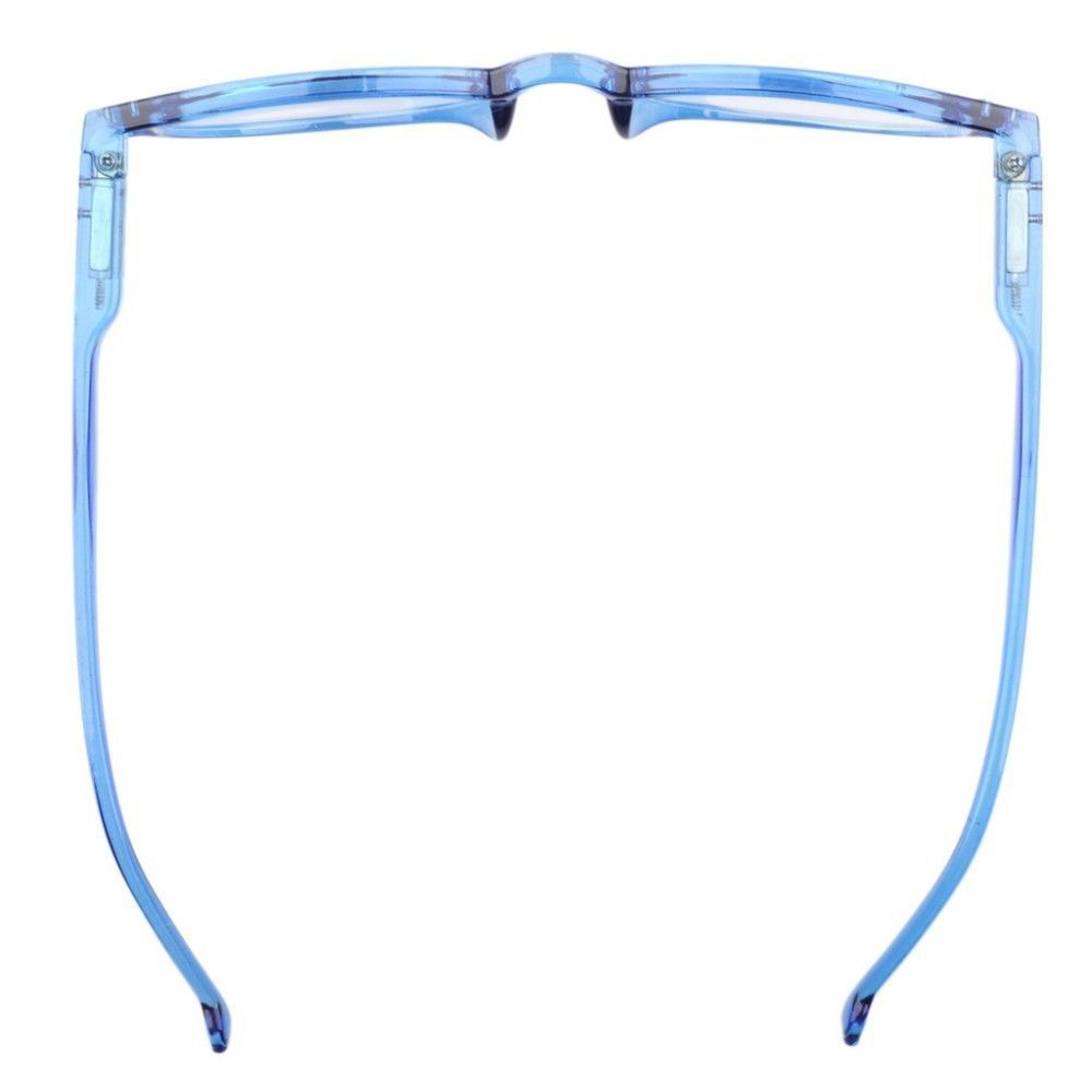 Bali Retro Light Blue Translucent Reading Glasses With Spring Hinges Readers