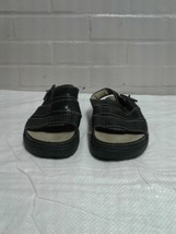 Women's Timberland Black Size 8.5M Open Toe Strap On Sandals Shoes - $13.41