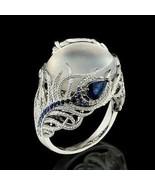 Jelly Opal Flower Ring 10K White Gold Filled Sz 8  New - $18.00