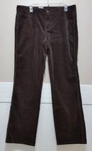 New Calvin Klein J EAN S Chocolate Brown Corduroy Pants Ladies 14 x32 Espresso Nwt - $28.53