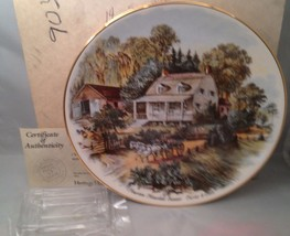American Homestead - Summer Currier & Ives America Collector Plate w/ COA - $9.75