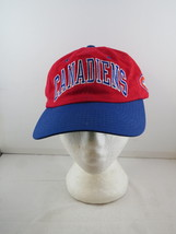 Montreal Canadiens Hat (VTG) - Two Tone Arch Script by Starter - Adult Strapback - $49.00