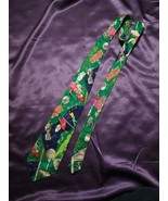 Nicole Miller Green Golf Tie with 19th Hole Image 100% Silk Novelty Hobb... - $24.75