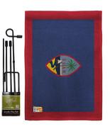 Guam Burlap - Impressions Decorative Metal Garden Pole Flag Set GS140097-DB - $33.97