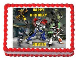 TRANSFORMERS PRIME edible party cake topper cake image sheet decoration - $8.98+