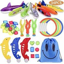Faburo 34pcs Underwater Sinking Swimming Diving Pool Toy for Kids Summer... - $22.83