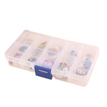 10 Slots Cosmetic Adjustable Jewelry Necklace Clear Make Up Storage Box ... - £7.86 GBP