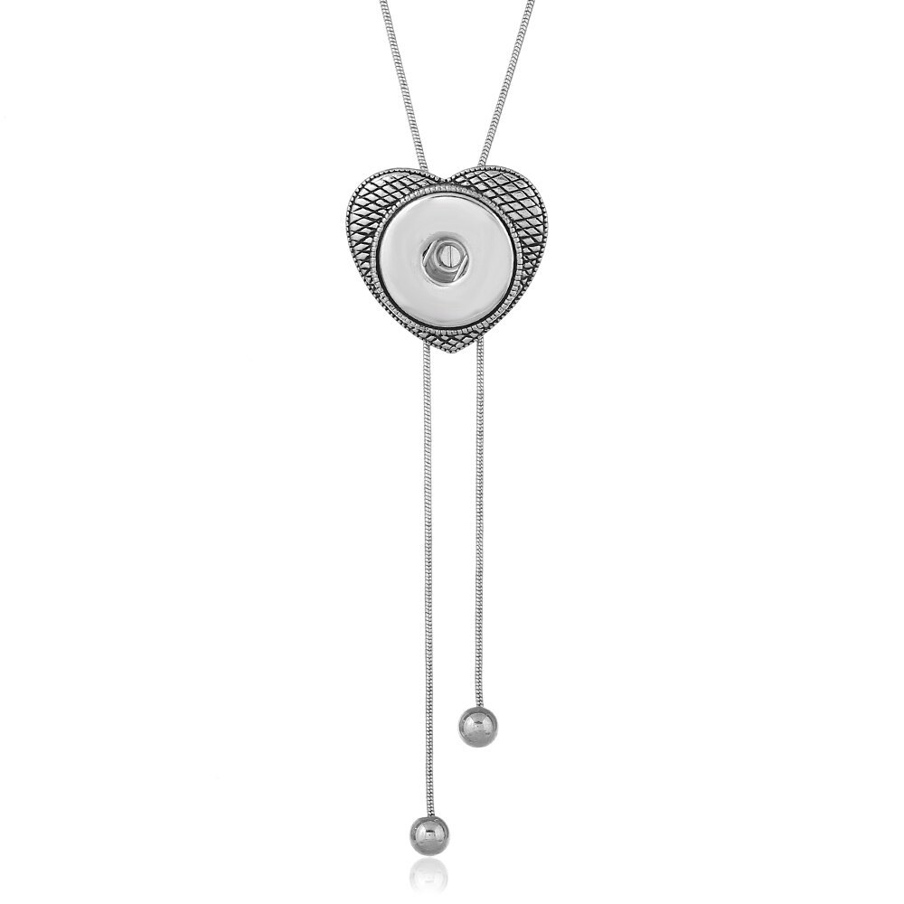 Newest style fit 18mm snap button Statement necklace Pendants Initial Necklace S image 4