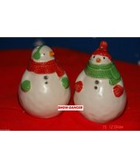 Hallmark 2009  Snowman Salt & Pepper Shakers  New In Package - $14.99